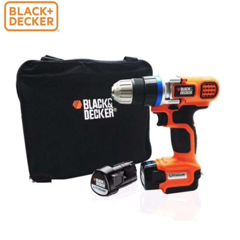 Black+Decker - Máy khoan + KÈM 2 pin Li-ion + TÚI VẢI EGBL108KB-B1