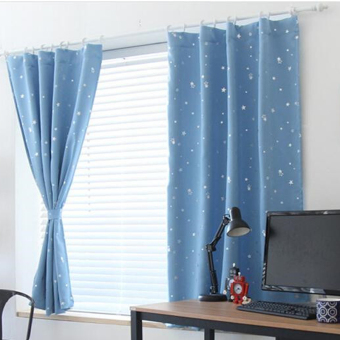 Blackout Thermal Solid Window Curtai Light blue (Intl)
