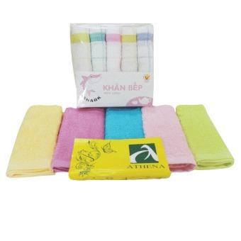 Bộ 01 lốc khăn lau bếp và 01 khăn lau dĩa