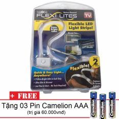 Bộ 02 Đèn LED Siêu Sáng Dán Tủ D100PT + Tặng 03 Pin AAA