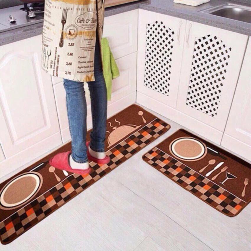 Bộ 02 thảm nhà bếp cao cấp (40 x 60 và 40 x 120 cm)