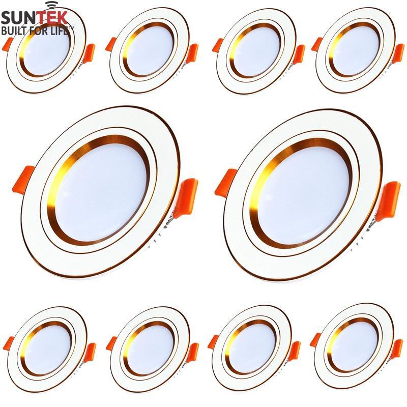 Bộ 10 đèn LED âm trần cao cấp 3 mầu SUNTEK 7W