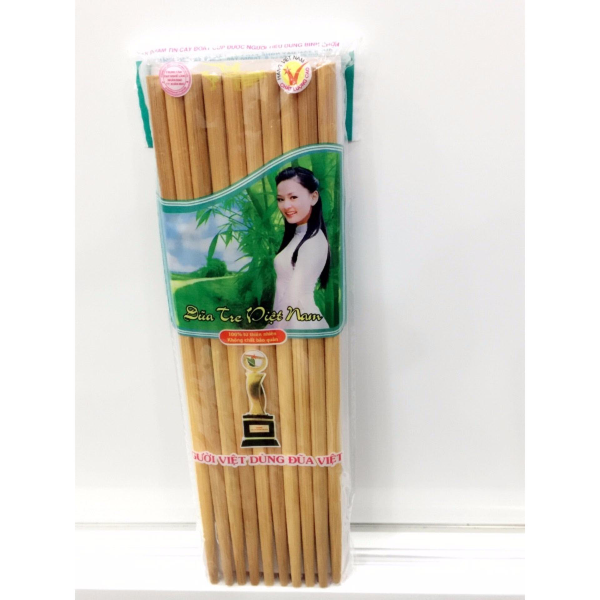 Bộ 10 đôi đũa tre Việt Nam 100% từ thiên nhiên NVPRO AA