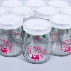 Bộ 12 hũ làm sữa chua bằng thủy tinh
