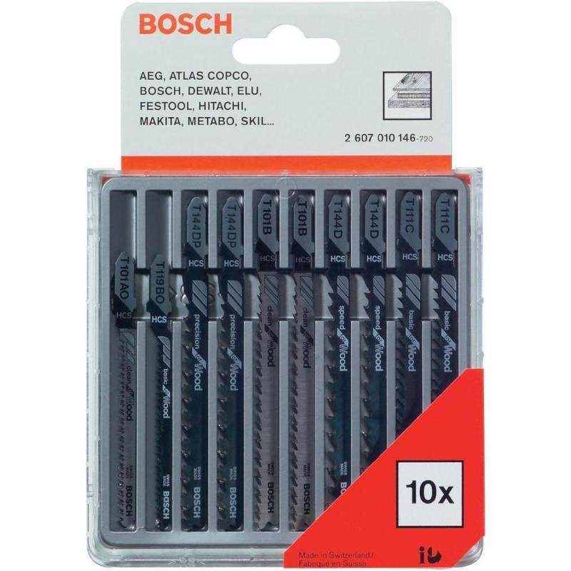 Bộ 10 lưỡi cưa gỗ Bosch 2607010146 (Xám)