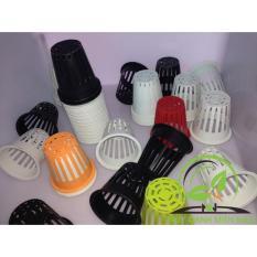 Bộ 100 cái Rọ Nhựa Trồng Rau Thủy Canh cho ống PVC