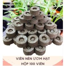 Bộ 100 viên nén ươm hạt (viên nén xơ dừa)