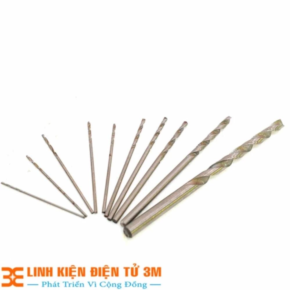 Bộ 11 Mũi Khoan Mini (0.5-0.6-0.7-0.8-0.9-1.0-1.2-1.5-2.0-3.0-5.0mm Mỗi loại 1 Chiếc )