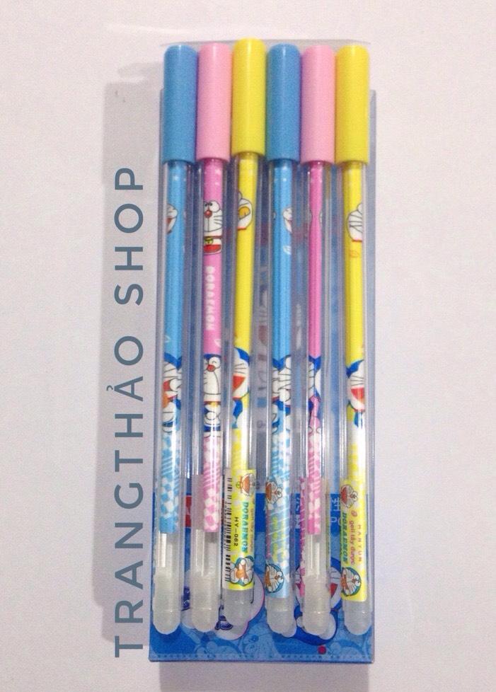 Bộ 12 bút bi nước tẩy xóa (Mực xanh)