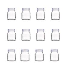 Bộ 12 hũ thủy tinh làm sữa chua nắp nhựa