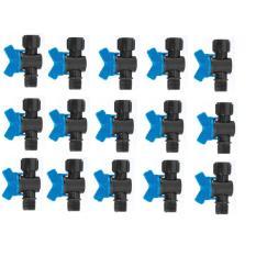 Bộ 15 Van chỉnh nước ren ngoài 21, ren trong 21