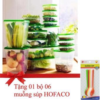 Bộ 17 hộp đựng thực phẩm Cao cấp, An toàn có nắp đậy (Tặng 1 vỉ 6thìa nhựa HOFACO) - 10272616 , NO007HLAA4CDCBVNAMZ-7934651 , 224_NO007HLAA4CDCBVNAMZ-7934651 , 200000 , Bo-17-hop-dung-thuc-pham-Cao-cap-An-toan-co-nap-day-Tang-1-vi-6thia-nhua-HOFACO-224_NO007HLAA4CDCBVNAMZ-7934651 , lazada.vn , Bộ 17 hộp đựng thực phẩm Cao cấp, An toà