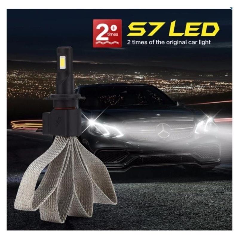 Bảng giá Mua Bộ 2 bóng đèn led trước cho xe hơi ô tô MODEL H4 Headlight (Cao cấp sợi nhôm chịu nhiệt, chống nước)
