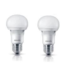 Bộ 2 bóng đèn Philips Ecobright LEDBulb 8-100W E27 3000K A60 (Ánh sáng vàng)