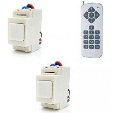 Bộ 2 công tắc điều khiển từ xa IR RF lắp mặt Panasonic TPE RI02 + Remote 18 nút R3.4