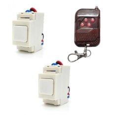 Bộ 2 công tắc điều khiển từ xa IR RF lắp mặt Panasonic TPE RI02 + Remote RF vỏ vân gỗ R1VG315
