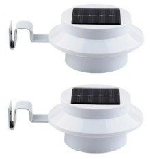 bộ 2 đèn  năng lượng mặt trời cảm biến thông minh 3 led chìm