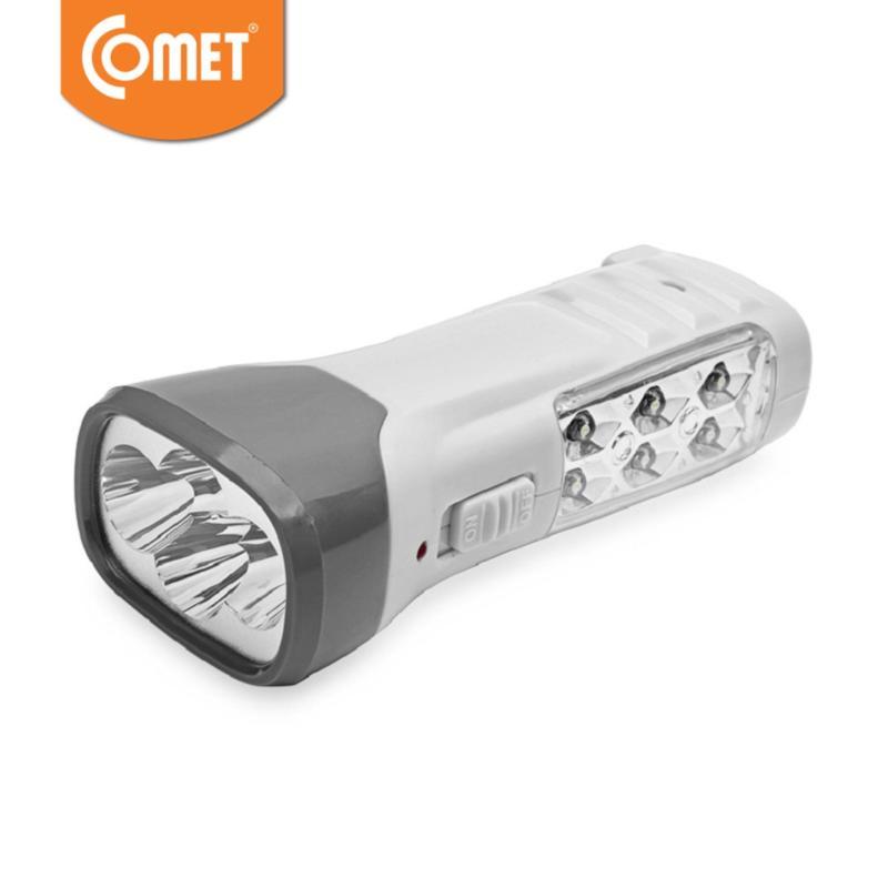 Bảng giá Mua Bộ 2 Đèn pin sạc LED COMET CRT831G (Trắng phối xám)
