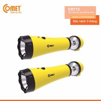 Bộ 2 Đèn pin sạc LED đa năng COMET CRT13 (Vàng)