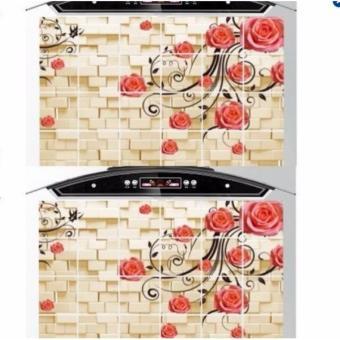 Bộ 2 giấy dán bếp cách nhiệt cỡ lớn 60*90cm (Hoa ngẫu nhiên)
