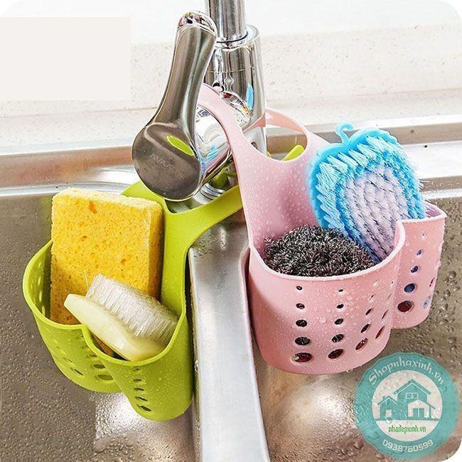 Bộ 2 Giỏ đựng giẻ rửa bát có quai treo tiện dụng