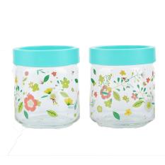 Chi tiết sản phẩm Bộ 2 hũ thủy tinh in hoa Ocean Stax Jar 500ml (Xanh)