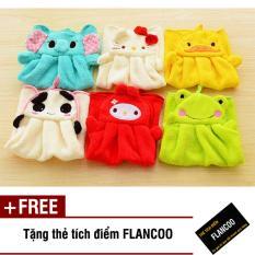 Bộ 2 khăn lau tay nhà bếp Flancoo 2626 (Xanh lá) + Tặng kèm thẻ tích điểm Flancoo