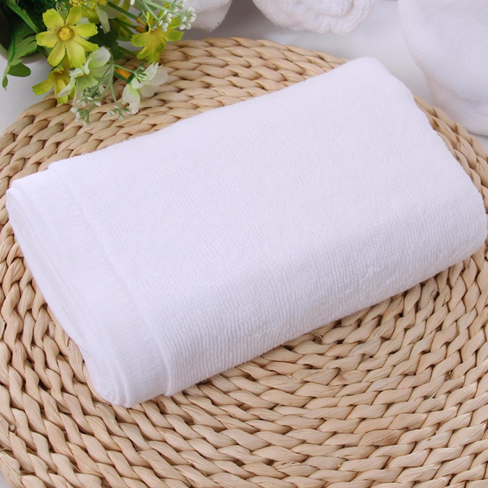 Bộ 2 Khăn tắm cotton cao cấp – nhập khẩu Nhật Bản, tiêu chuẩn 5 * – 700gr (70x140cm, Trắng)