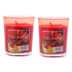 Bộ 2 ly nến thơm votives hương quả lựu Miss Candle FtraMart FTM-NQM0413 (Đỏ)