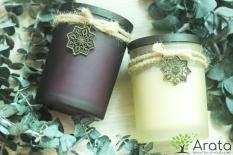 Bộ 2 nến thơm Arata: hương Vanilla ngọt ngào + hương Lavender dịu dàng