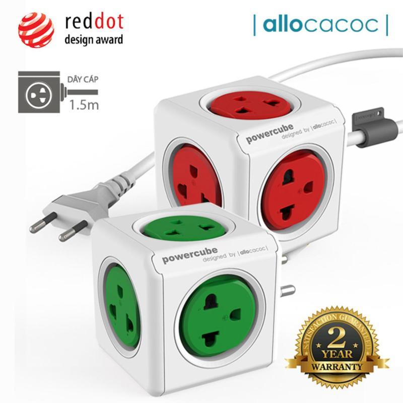 Bảng giá Bộ 2 Ổ Cắm Điện Allocacoc PowerCube Extended + Original 10 Ổ Cắm Dây Cáp 1.5m - Hàng Nhập Khẩu