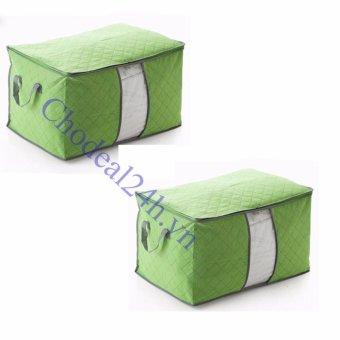 Bộ 2 túi vải đa năng đựng quần áo (xanh lá)