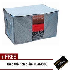 Bộ 2 túi vải đa năng size 60 Flancoo 0842 (Xám) + Tặng kèm thẻ tích điểm Flancoo