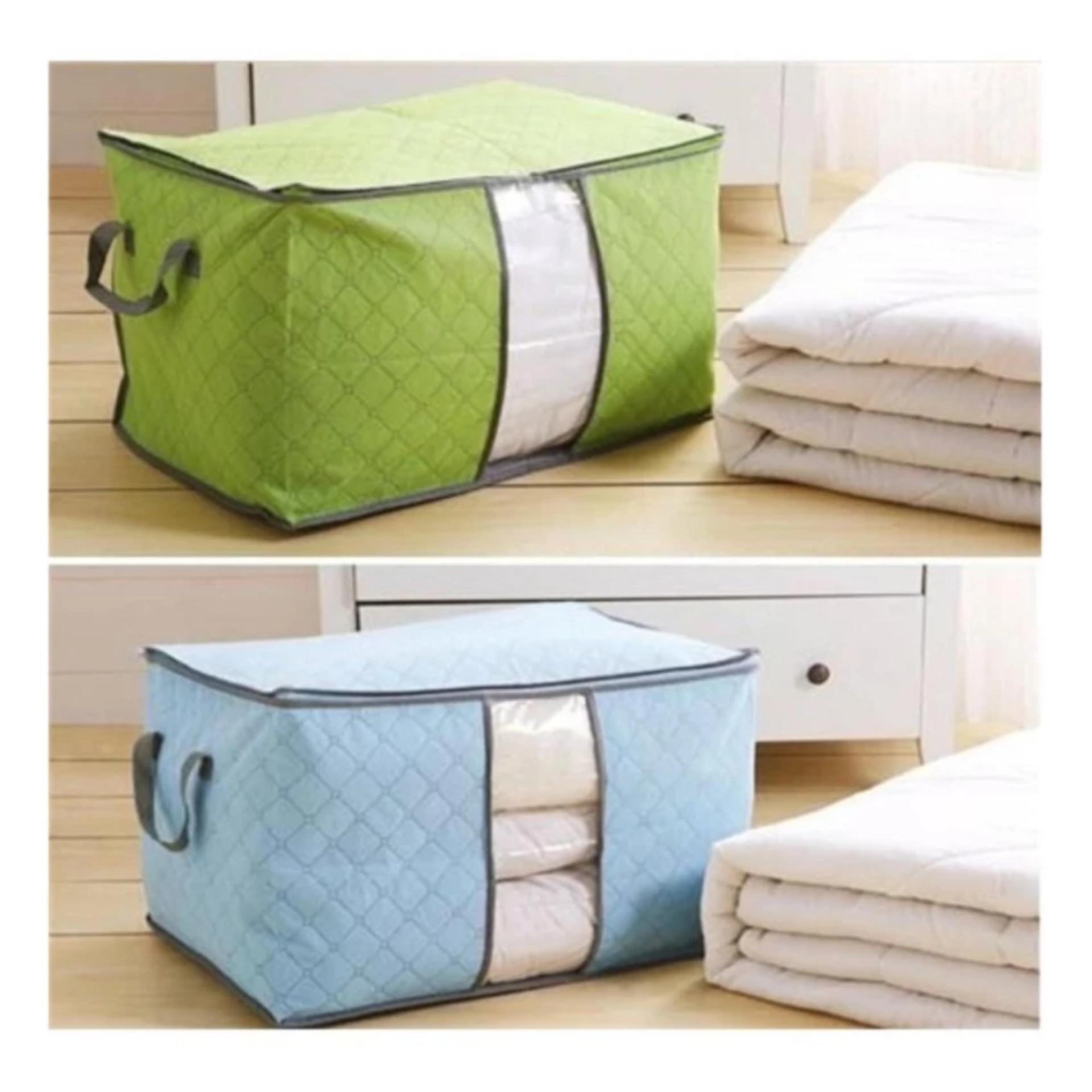 Bộ 2 túi vải đựng chăn màn quần áo
