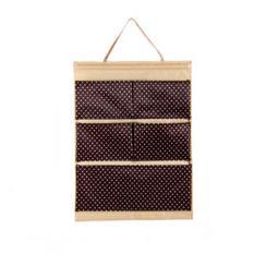 Bộ 2 túi vải treo 5 ngăn Flancoo 3043 (Nâu)