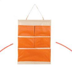 Bộ 2 túi vải treo 5 ngăn Flancoo 3045 (Cam)