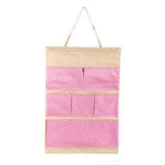 Bộ 2 túi vải treo 6 ngăn Flancoo 3051 (Hồng)