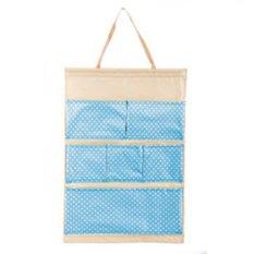 Bộ 2 túi vải treo 6 ngăn Flancoo 3052 (Xanh dương)