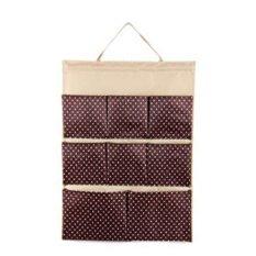 Bộ 2 túi vải treo 8 ngăn Flancoo 3073 (Nâu)