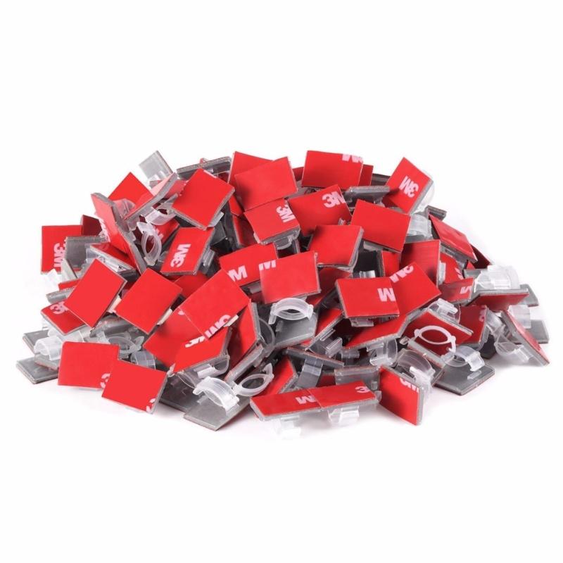 Bảng giá Bộ 20 cái Clips - nẹp kẹp dây cáp điện tiện dụng có sẵn keo 3M màu trong suốt 13mmx18mm