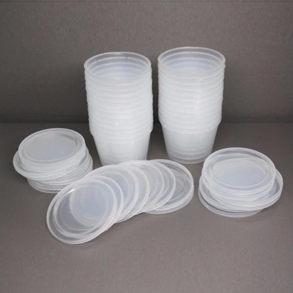 Bộ 20 Hộp nhựa tròn làm caramen sữa chua