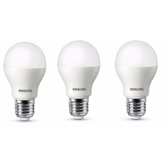 Bộ 3 Bóng đèn Philips LED ESS LEDBulb 5W đuôi E27 230V A60 ánh sáng (Trắng,Vàng)