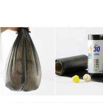 Bộ 3 Cuộn Túi Đựng Rác Size thùng vừa và nhỏ 50X60(Đen) (15-20 túi/ cuộn)