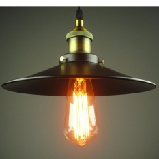 Bộ 3 Đèn thả trang trí đui đồng đĩa bay 300mm TH-017-GH (Đen)