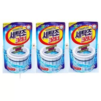 Bộ 3 gói bột vệ sinh tẩy lồng máy giặt Hàn Quốc 450Gr SM403