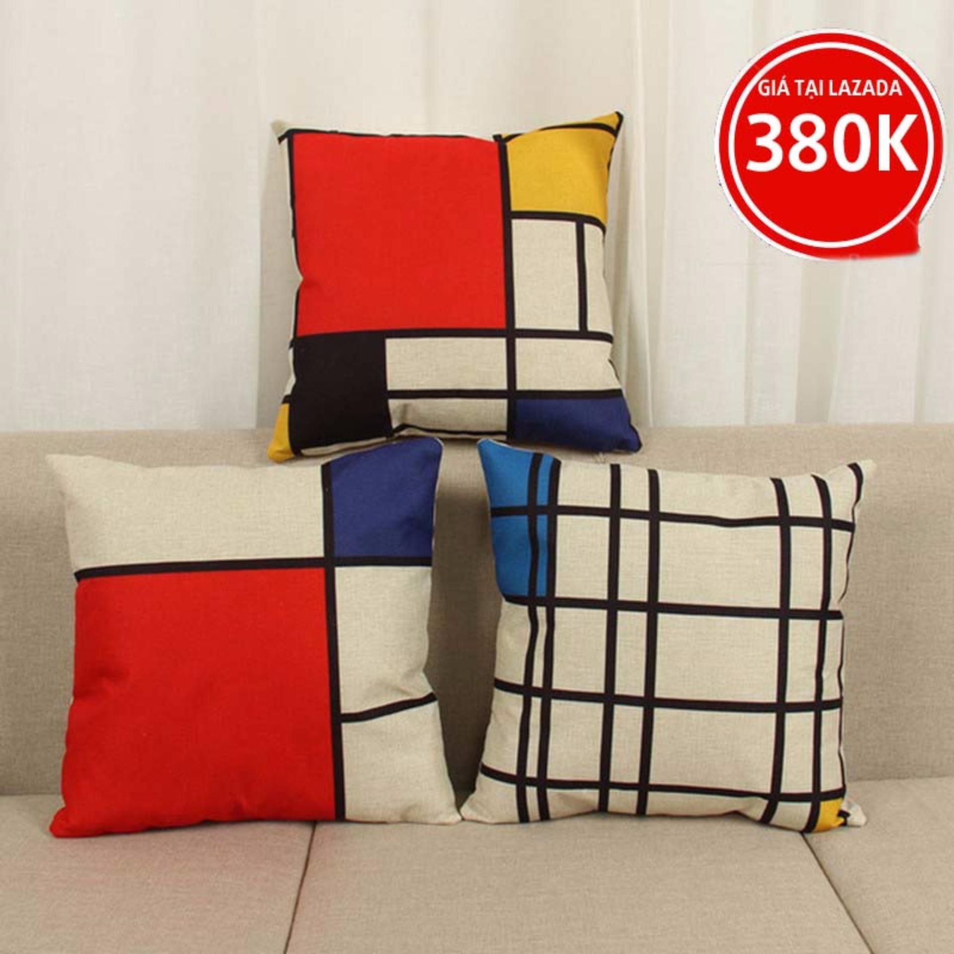 Giá Niêm Yết Bộ 3 Gối trang trí sofa MinHi Standar 40cm x 40cm 209