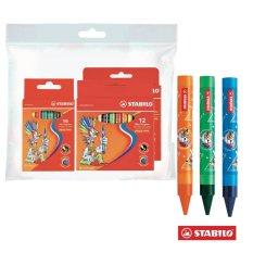 Bộ 3 hộp bút sáp màu STABILO Wax Crayons 12 cây + 16 cây + 24 cây