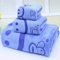 Bộ 3 khăn tắm, khăn gội đầu, khăn mặt cỡ lớn