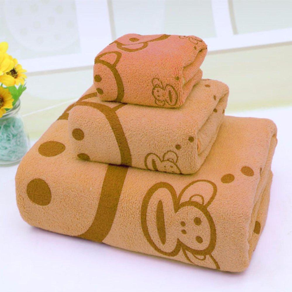 Bộ 3 khăn tắm – khăn mặt – khăn lau (Cam)