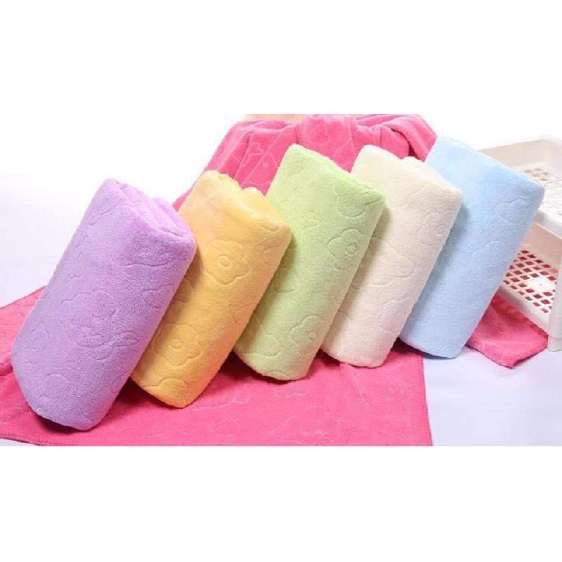 Cập Nhật Giá Bộ 3 khăn tắm, khăn mặt, khăn lau tóc cao cấp loại in chìm (vàng nhạt) – (BQ271-VANGNHAT)